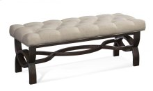 Button Tufted Linen Boudoir Bench