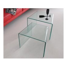 The Angolo Clear End Table