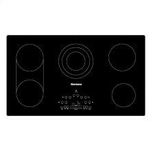 "36""W Electric Cooktop, 5 burner, Black"