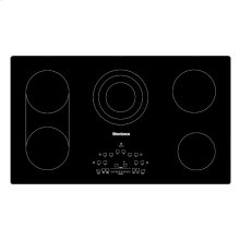 "36""W Electric Cooktop, 5 burner, Black"