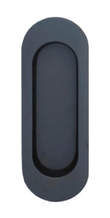 Modern Oval Flush Pull in US10B (Oil-rubbed Bronze, Lacquered)