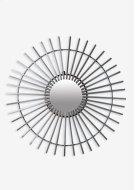 (LS) Antique ZInc Finished Metal Windmill Mirror (38.25x38.25x1) Product Image