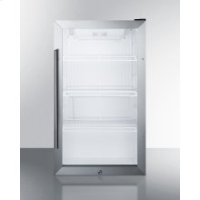 Commercially Approved Outdoor Beverage Cooler for Freestanding Use With Glass Door and Stainless Steel Cabinet