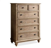 Coventry Five Drawer Chest Weathered Driftwood finish Product Image