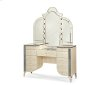 Upholstered Vanity and Mirror (2 pc)