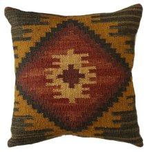 Red & Mustard Kilim Pillow.