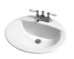Jessica Oval Drop-In Basin - 1 Hole - White Product Image