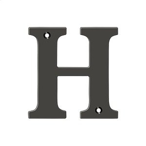 """4"""" Residential Letter H - Oil-rubbed Bronze Product Image"""