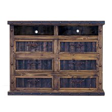 Finca Dresser TV Stand with Reclaimed Wood Panels