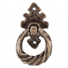 Tudor Ring Vertical 2 1/2 Inch w/Backplate - German Bronze