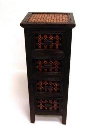 Safari Wooden Dresser w/Drawers-11.25x10.5x29 Product Image