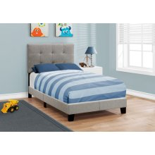 BED - TWIN SIZE / GREY LINEN