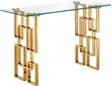 """Pierre Gold Console Table - 48""""L x 14""""D x 30""""H"""
