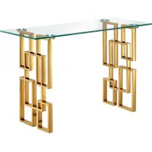 "Pierre Gold Console Table - 48"" W x 14"" D x 30"" H"