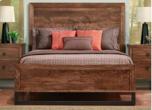 Cumberland Queen Bed With Wood Headboard & Low Footboard