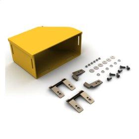 "Mighty Mo Fiber Raceway, Adapter Kit left hand, 8"" x 4"" to panduit 6"", yellow"