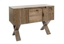 """Buffet In Rustic Birch / Top, Front and Base In Solid Wood / 2 Doors With Wood Division and 1 Adjustable Wood Shelf On Each Side / 2 Drawers """"quadro"""" Slides."""