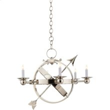 Visual Comfort SC5102PN Eric Cohler Armillary 6 Light 35 inch Polished Nickel Chandelier Ceiling Light