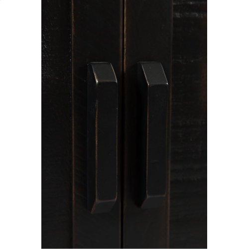 "Madison County 60"" Barn Door Server - Vintage Black"