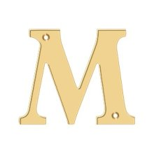 "4"" Residential Letter M - PVD Polished Brass"