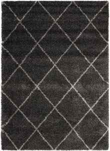 Brisbane Bri03 Charcoal Rectangle Rug 5' X 7'