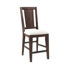 Attic Heirlooms Splatback Counter Stool, Rustic Oak