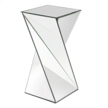 Twisted Mirrored End Table
