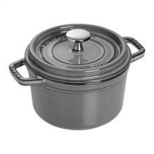 Staub Cast Iron 1.25-qt Round Cocotte, Graphite Grey