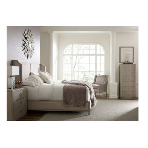 Cinema by Rachael Ray Upholstered Shelter Bed, King 6/6