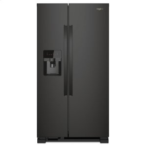 33-inch Wide Side-by-Side Refrigerator - 21 cu. ft. - BLACK