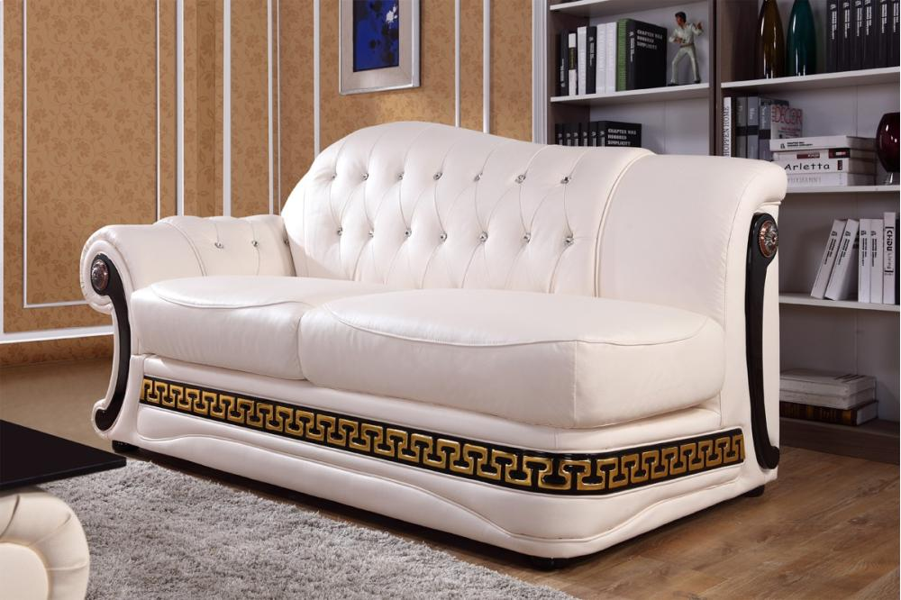 Hidden · Additional Divani Casa Suzanne Classic Cream Leather Sofa Set