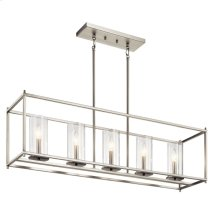 Crosby 5 Light Linear Chandelier Brushed Nickel