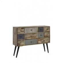 Cabinet 112x31x87 cm CAMARICO mix wood-matt black