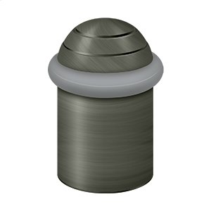 "Round universal Floor Bumper Dome Cap 2"", Solid Brass - Antique Nickel"