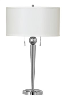 60W X 2 Messina metal table lamp with pull chain switch