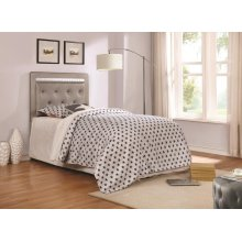 Anastasha Metallic Upholstered Twin Headboard