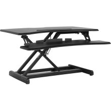 "HERCULES Series 30.25""W Black Sit \/ Stand Height Adjustable Ergonomic Desk with Height Lock Feature"