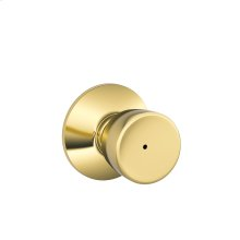 Bell Knob Bed & Bath Lock - Satin Chrome