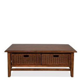 Claremont Rectangular Coffee Table Toffee finish