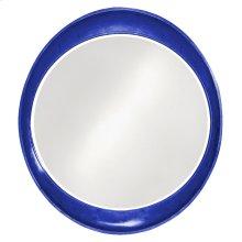 Ellipse Mirror - Glossy Royal Blue