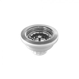 Brushed Stainless - Kitchen Sink Strainer with Polypropylene Body