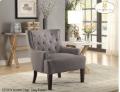Wing Chair Tufted Grey
