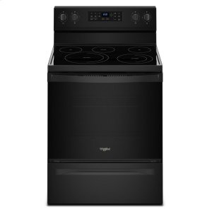 5.3 cu. ft. Freestanding Electric Range with Fan Convection Cooking - BLACK