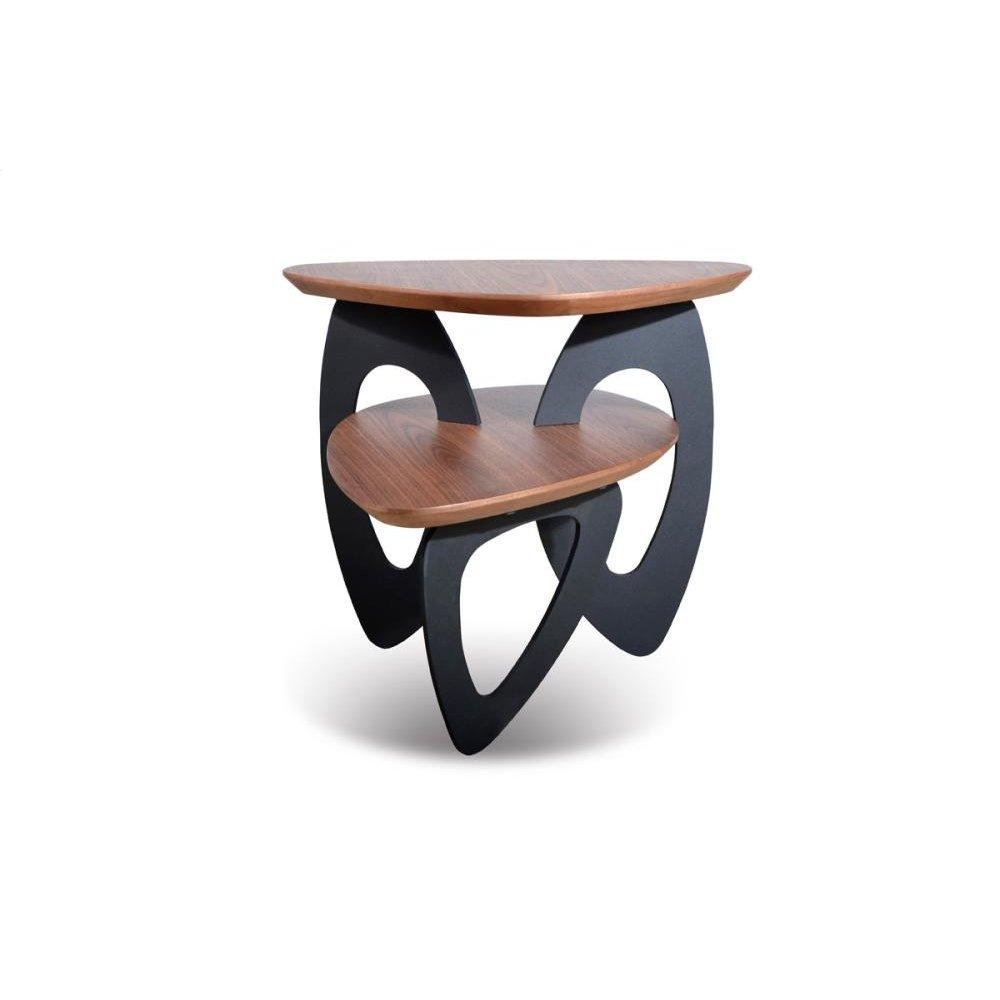 Modrest Sprig Modern Walnut End Table
