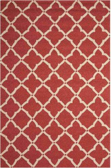 Portico Por01 Red Rectangle Rug 5' X 7'6''