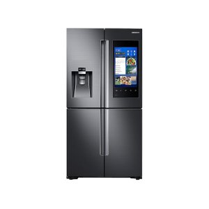22 cu. ft. Capacity Counter Depth 4-Door Flex Refrigerator with Family Hub (2017) - FINGERPRINT RESISTANT BLACK STAINLESS STEEL