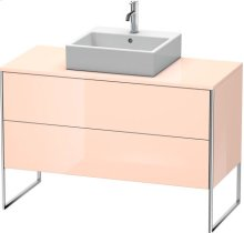 Vanity Unit For Console Floorstanding, Apricot Pearl High Gloss Lacquer