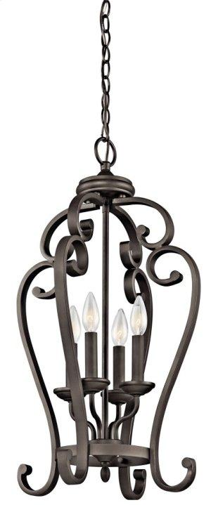 Monroe 4 Light Large Foyer Cage Pendant Olde Bronze®
