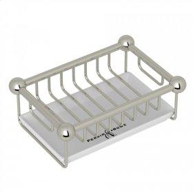 Polished Nickel Perrin & Rowe Free Standing Soap Basket