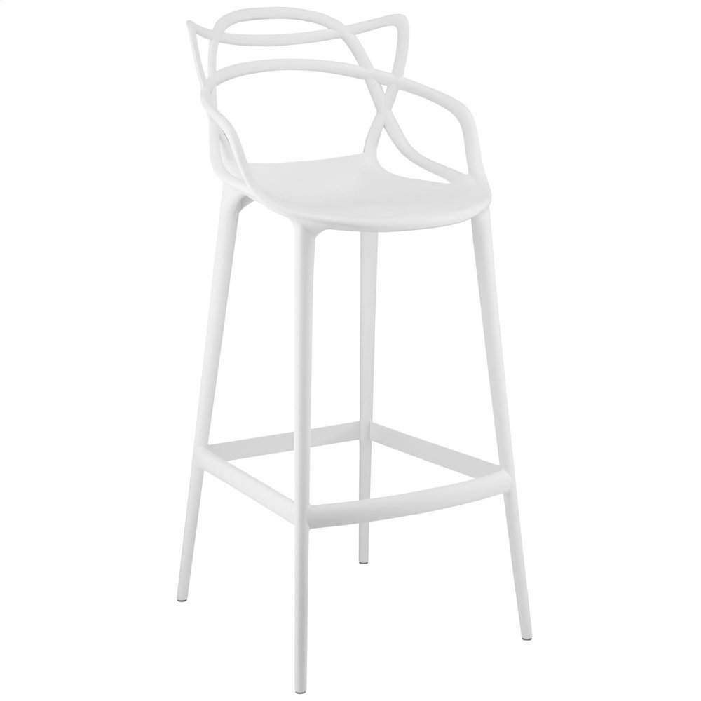 Entangled Bar Stool in White